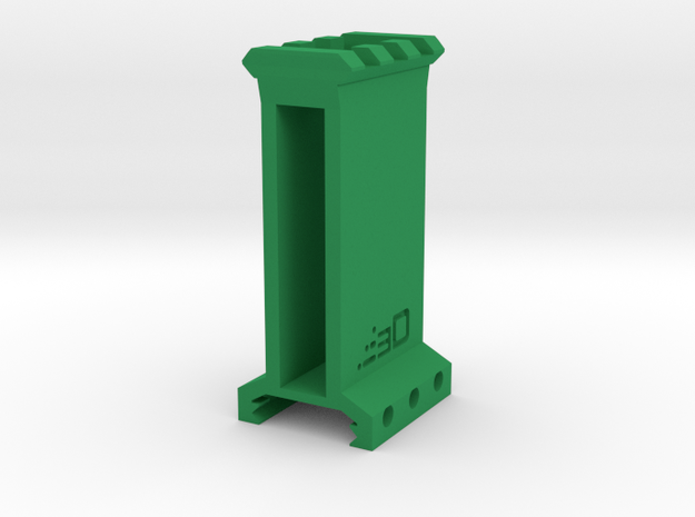 "2.5"" High 3 Slots Picatinny Riser in Green Processed Versatile Plastic"