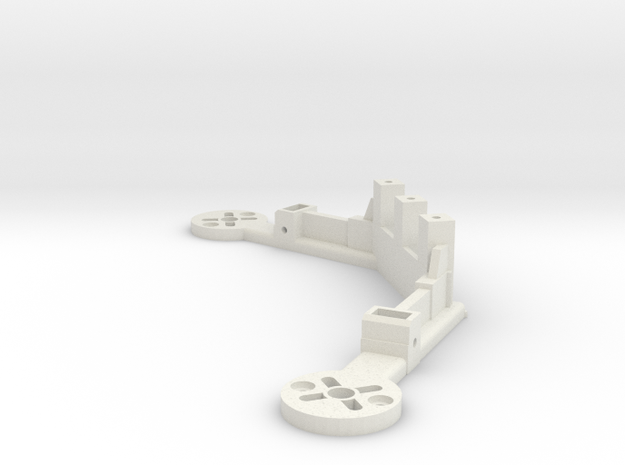 [Q3] Dual Motor Mount Bracket  in White Natural Versatile Plastic