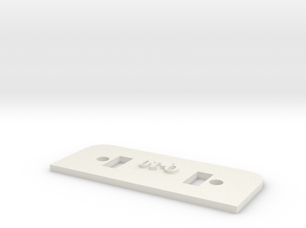[Q10] Lock Plate in White Natural Versatile Plastic