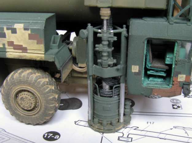 1:72 correct gyroscope for the SS-25 Topol launche in Smoothest Fine Detail Plastic
