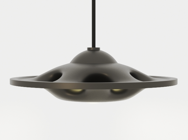 UFO Pendant Light Type A in Black Natural Versatile Plastic: Extra Small