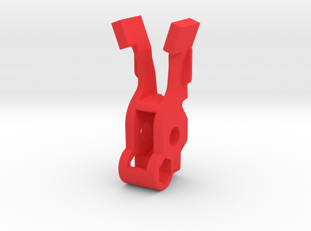 Variable pressure Breech Block V3 in Red Processed Versatile Plastic