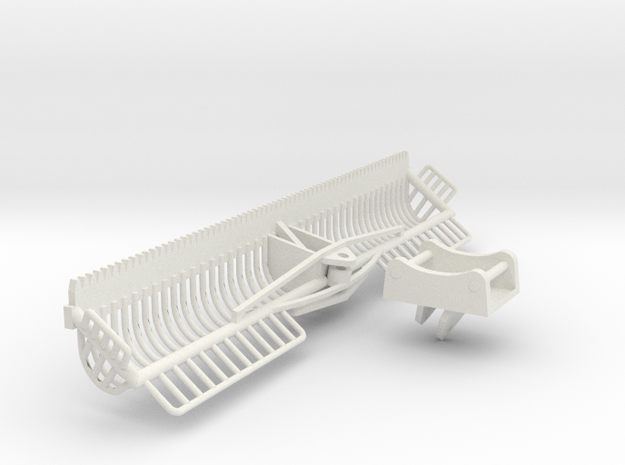 1/32 4 meter Maaikorf met adapter ewr150e in White Natural Versatile Plastic