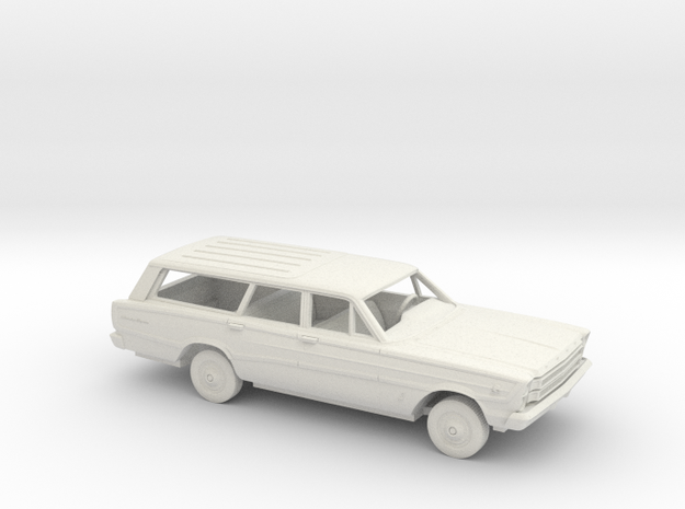 1/25 1966 Ford Country Squire Kit in White Natural Versatile Plastic