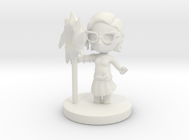 Alice of Ravens in White Natural Versatile Plastic