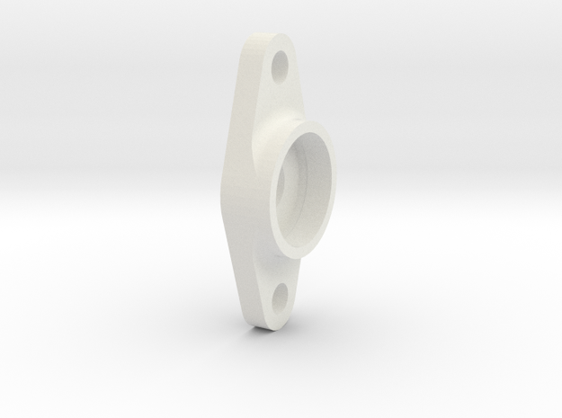 King Of Crushers Transmission Top Shaft Support in White Natural Versatile Plastic: 1:10