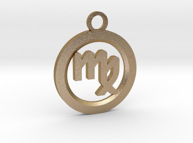 Virgo in Polished Gold Steel