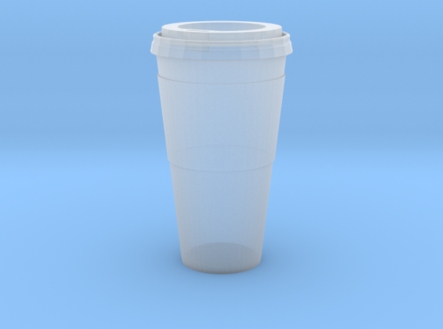 1/12 Scale Paper Coffee Cup in Smooth Fine Detail Plastic