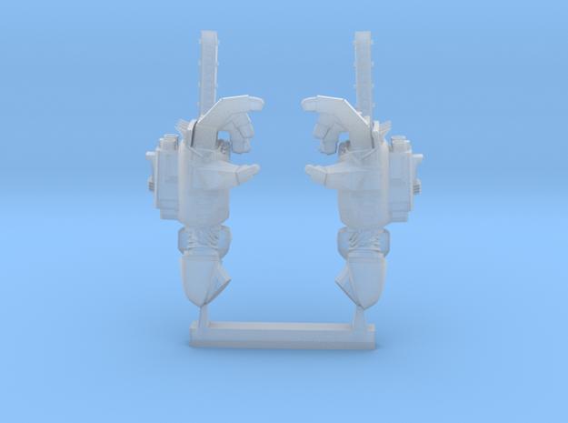 chainfist with machine gun in Smoothest Fine Detail Plastic
