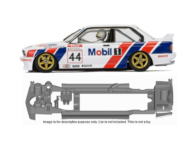 S14-ST4 Chassis for Scalextric C3782, SSD/STD in White Natural Versatile Plastic