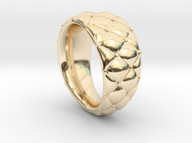 Qushion (size 60) in 14k Gold Plated Brass