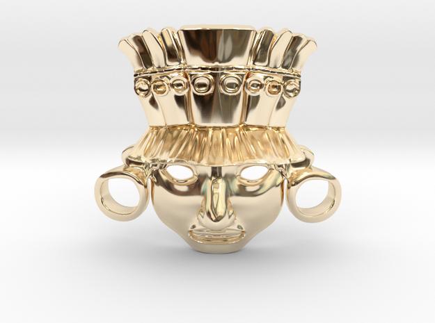 XIPE Totec Mask in 14K Yellow Gold