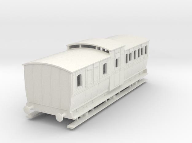 0-100-mgwr-6w-brake-3rd-coach in White Natural Versatile Plastic