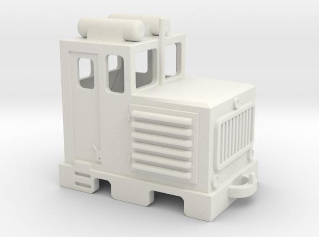 D3 H0e / 009  diesel shunter / diesel da manovra in White Natural Versatile Plastic