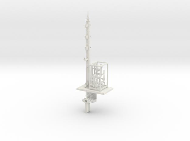 NSWR 7mm Scale 3 Arm 18 ft LQ Signal+Parts in White Natural Versatile Plastic