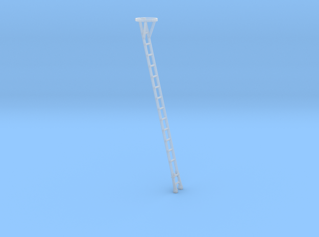 HO 18 ft Signal Post Ladder with Top Safety Cage in Smooth Fine Detail Plastic