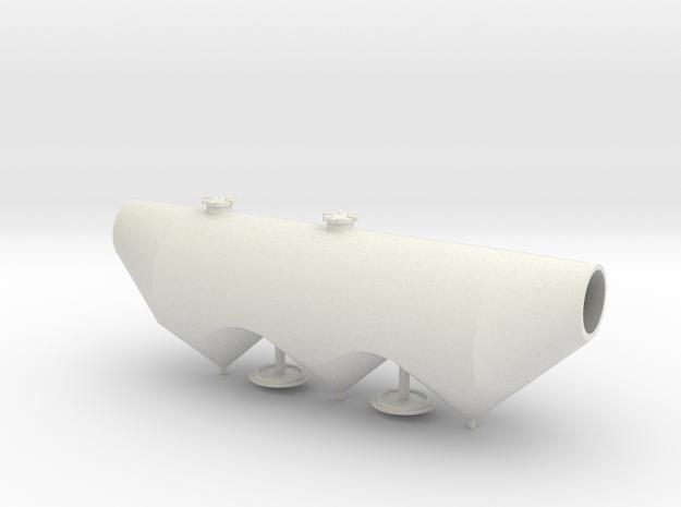 HO 1/87 Dry Bulk Trailer 1040 Superjet - tank only in White Natural Versatile Plastic