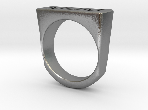Signet Ring in Natural Silver