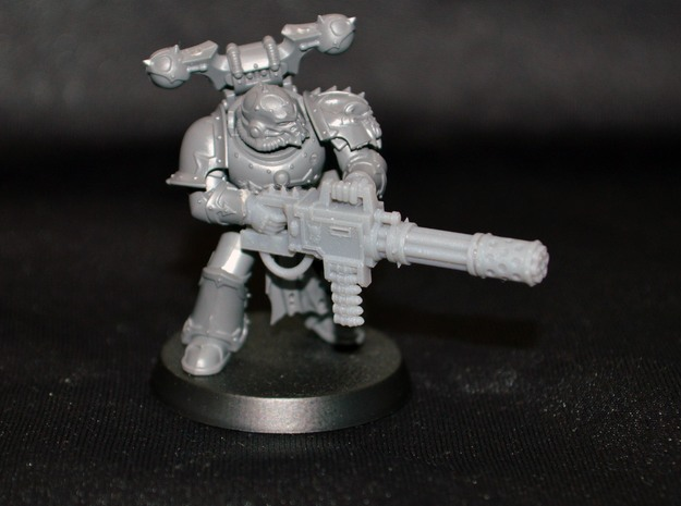 40k Chaos Havocs Reaper Chaincannon in Smooth Fine Detail Plastic