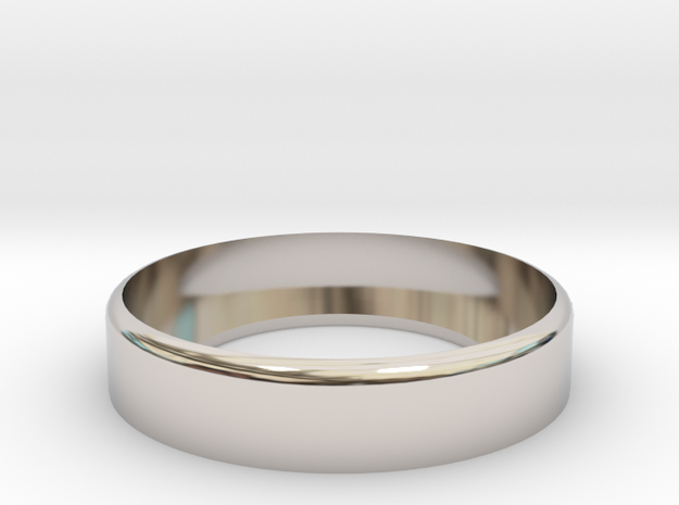 24mm [LP] Flow Ring  in Rhodium Plated Brass