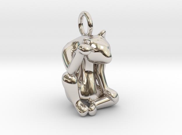 cat_011 in Rhodium Plated Brass