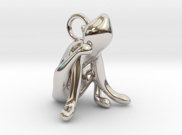cat_019 in Rhodium Plated Brass