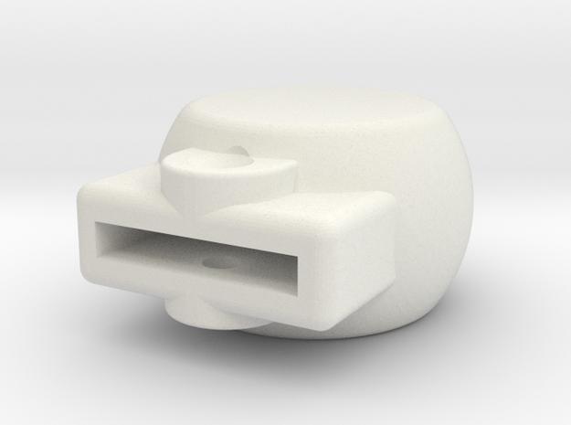 08.01.03.02.01 Airscrew Control Knob in White Natural Versatile Plastic