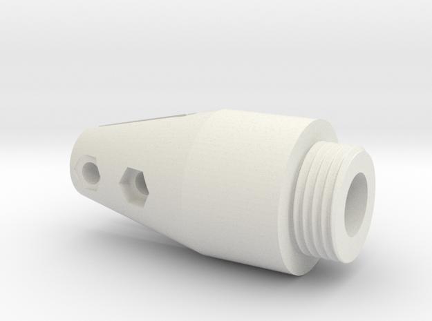 08.01.03.09.05 Throttle handle Bot in White Natural Versatile Plastic