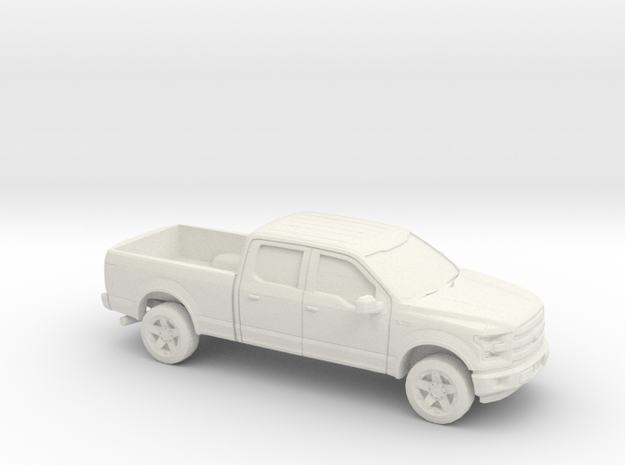1/72 2014-17 Ford F-150 Long Bed in White Natural Versatile Plastic