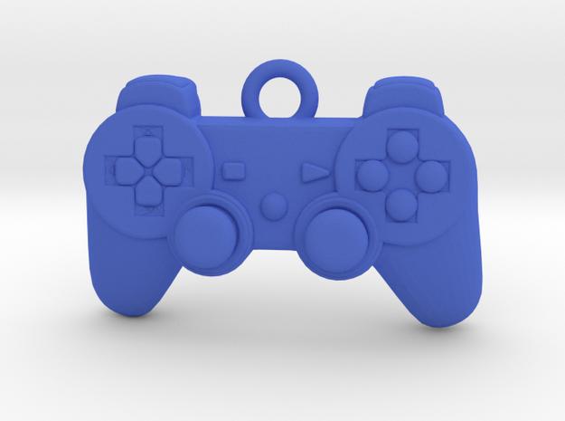 PlayStation Controller Pendant all materials gamer in Blue Processed Versatile Plastic