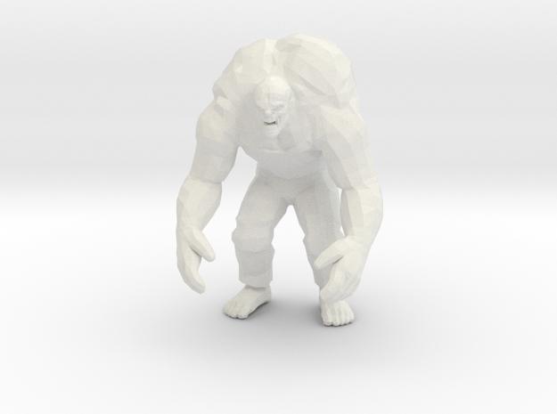 Left4Dead Zombie Tank 1/60 miniature for games rpg in White Natural Versatile Plastic