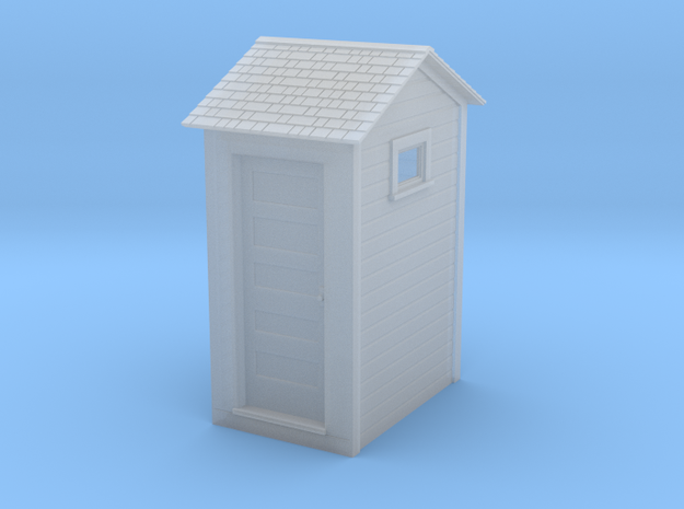 HO Great Northern Single Privy with Windows in Smooth Fine Detail Plastic