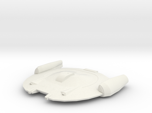 Federation Escort Ship in White Natural Versatile Plastic