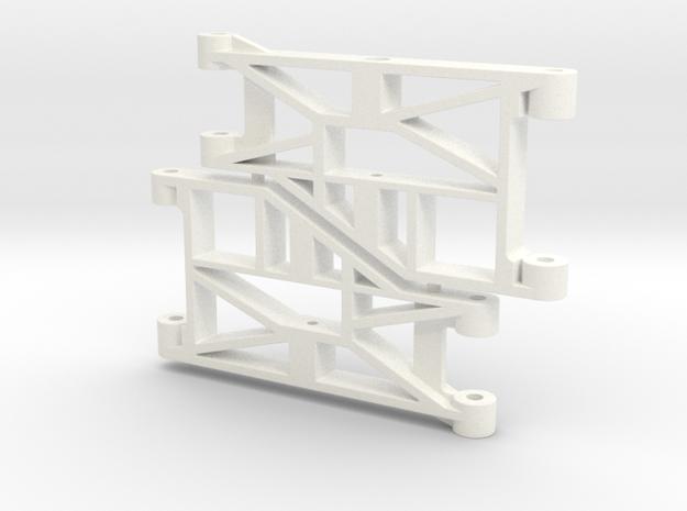 Reborn91, ARMS, FRONT in White Processed Versatile Plastic
