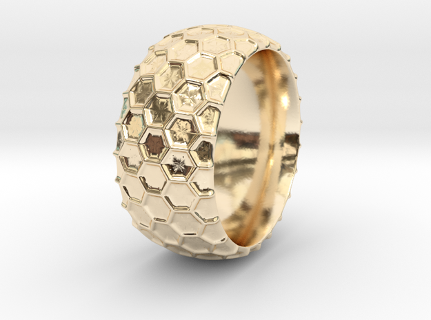 Beehive Ring in 14K Yellow Gold