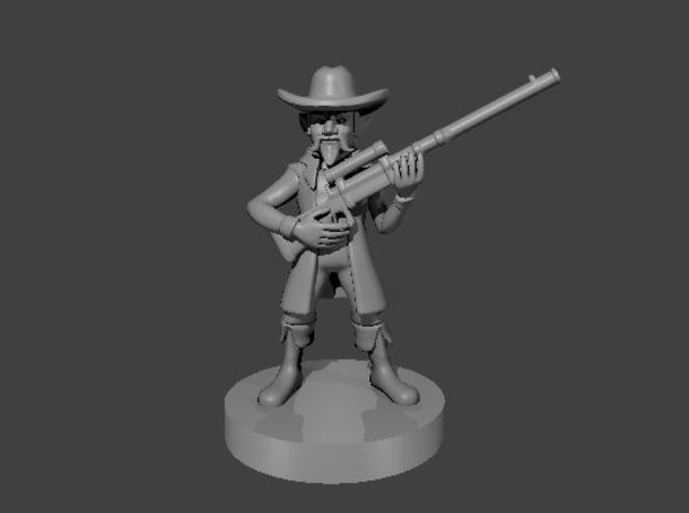Gnome Gunslinger with Long Rifle in Smooth Fine Detail Plastic