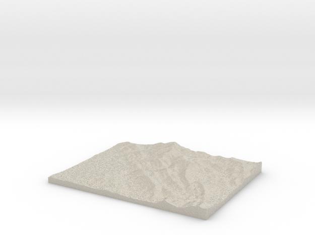 Model of Montagne de la Veyronne in Natural Sandstone