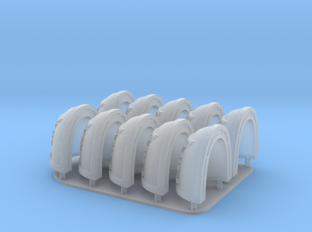 Deathwatch Shoulderpads X10 in Smooth Fine Detail Plastic