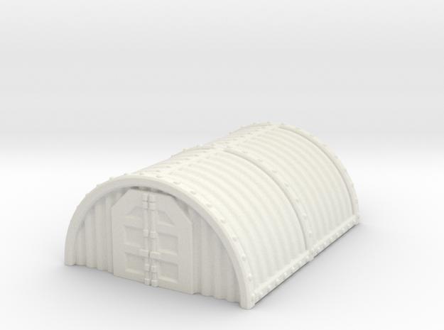 """Hangar / barracks 2.5"""" tall in White Natural Versatile Plastic"""
