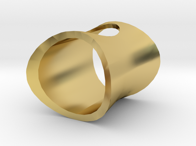 Wormhole Ring in Polished Brass