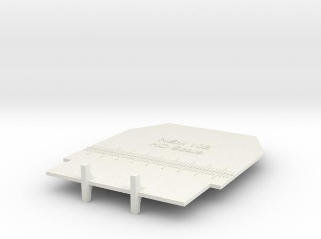 NEM 102 HO Gauge in White Natural Versatile Plastic: 1:87 - HO