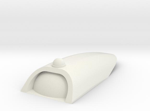 1/1000 TOS Upper Saucer Hangar in White Premium Versatile Plastic