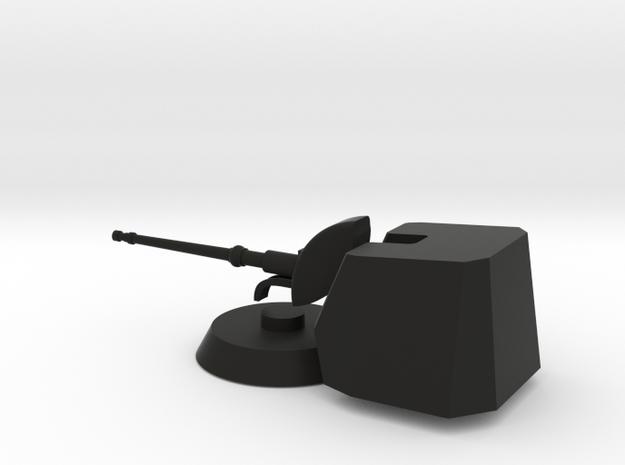 1/96 scale Oto Breda 76/62SR super rapid gun in Black Natural Versatile Plastic