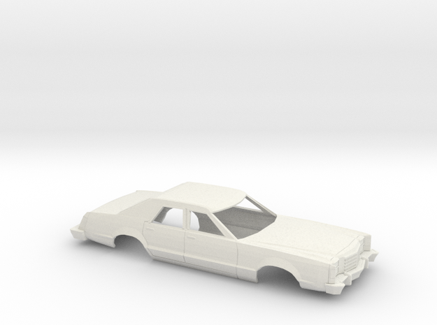 1/18 1977-79 Ford LTD II Sedan in White Natural Versatile Plastic