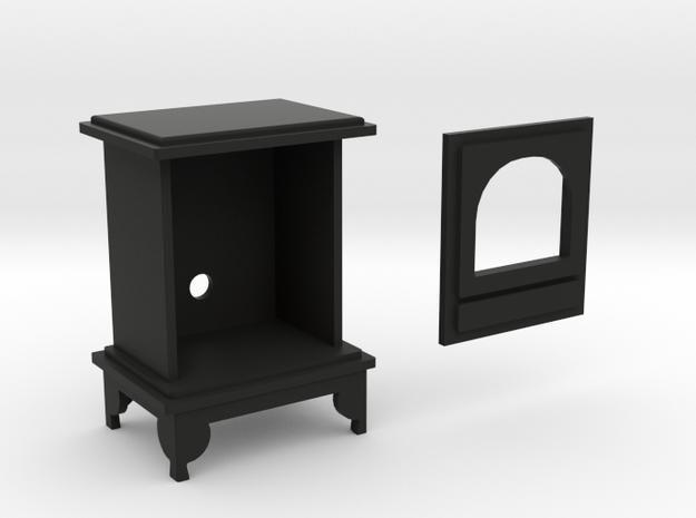 1:12 scale Woodburning Stove in Black Natural Versatile Plastic