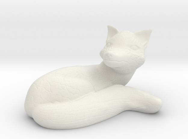 Relaxing Fox in White Natural Versatile Plastic
