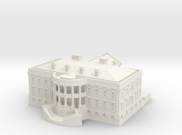 The White House 1/700 in White Natural Versatile Plastic