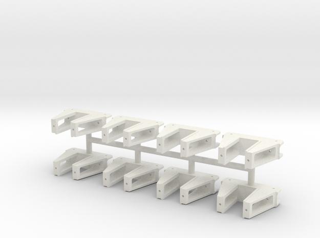 Harrisburg Car Co truck Pedestal Gauge 3 in White Natural Versatile Plastic
