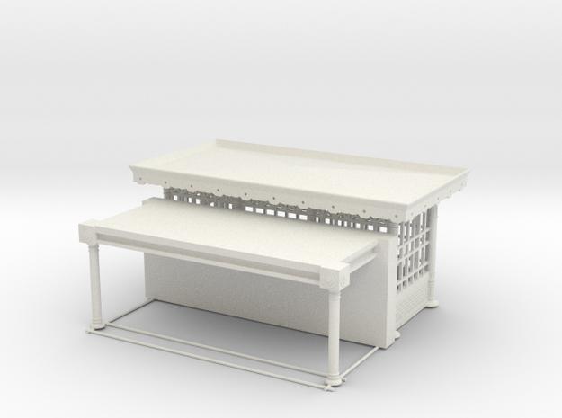 halte de bouvigne COMPLET   HO in White Natural Versatile Plastic: 1:87 - HO