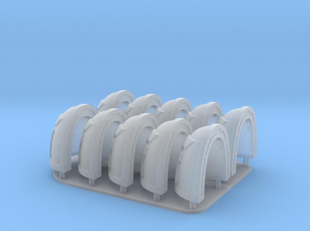 Khorne Shoulderpads 10x 40k in Smooth Fine Detail Plastic